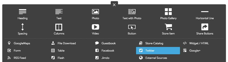 Jimdo screenshot