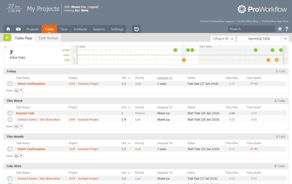 Listing Task Page