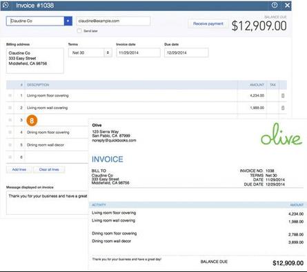 QuickBooks Online - invoicing