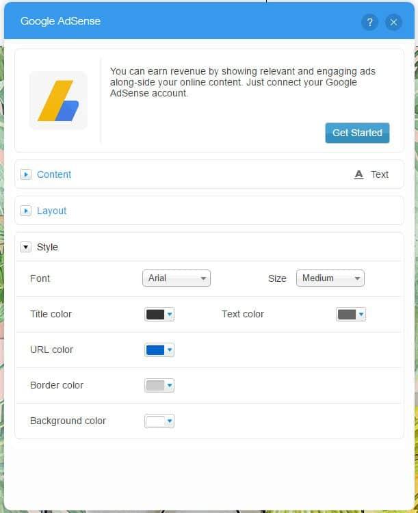google adsense wix integration