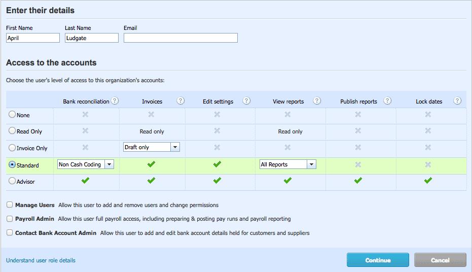 Xero User Permissions