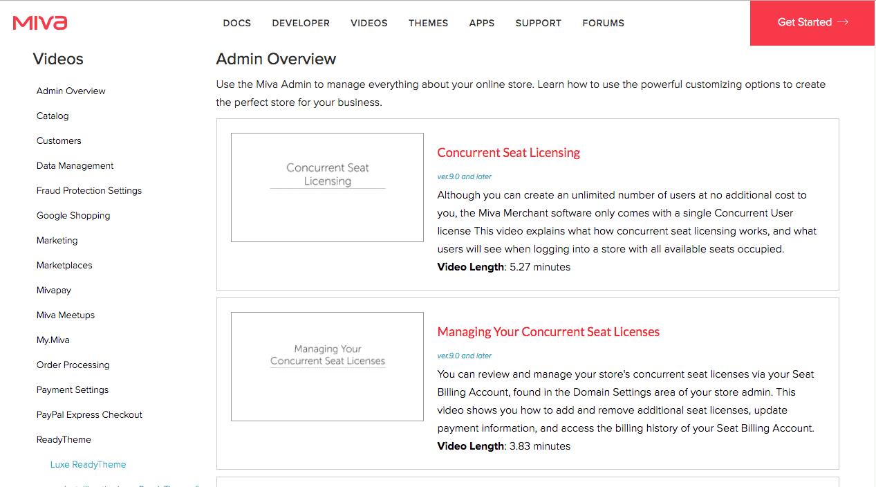 miva merchant admin settings