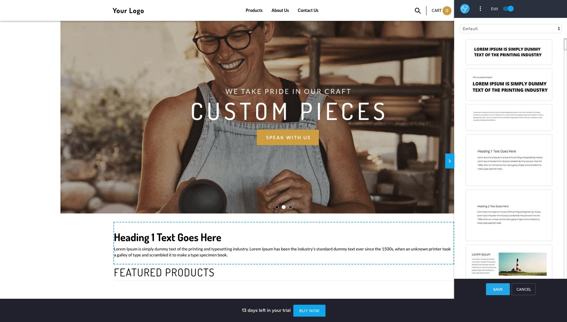 volusion 1 design editor