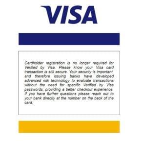 Verified by Visa Registration