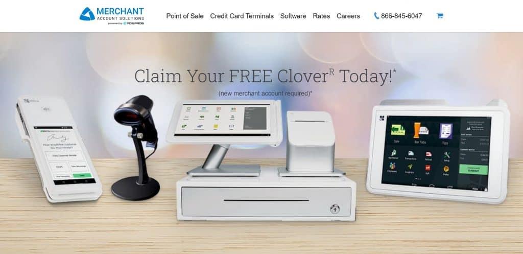Merchant Account Solutions screenshot