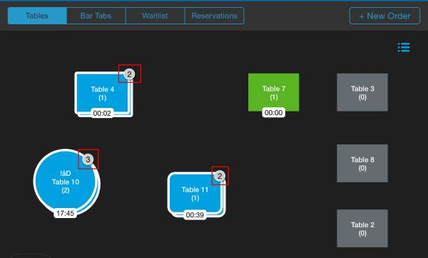 revel pos table management screenshot