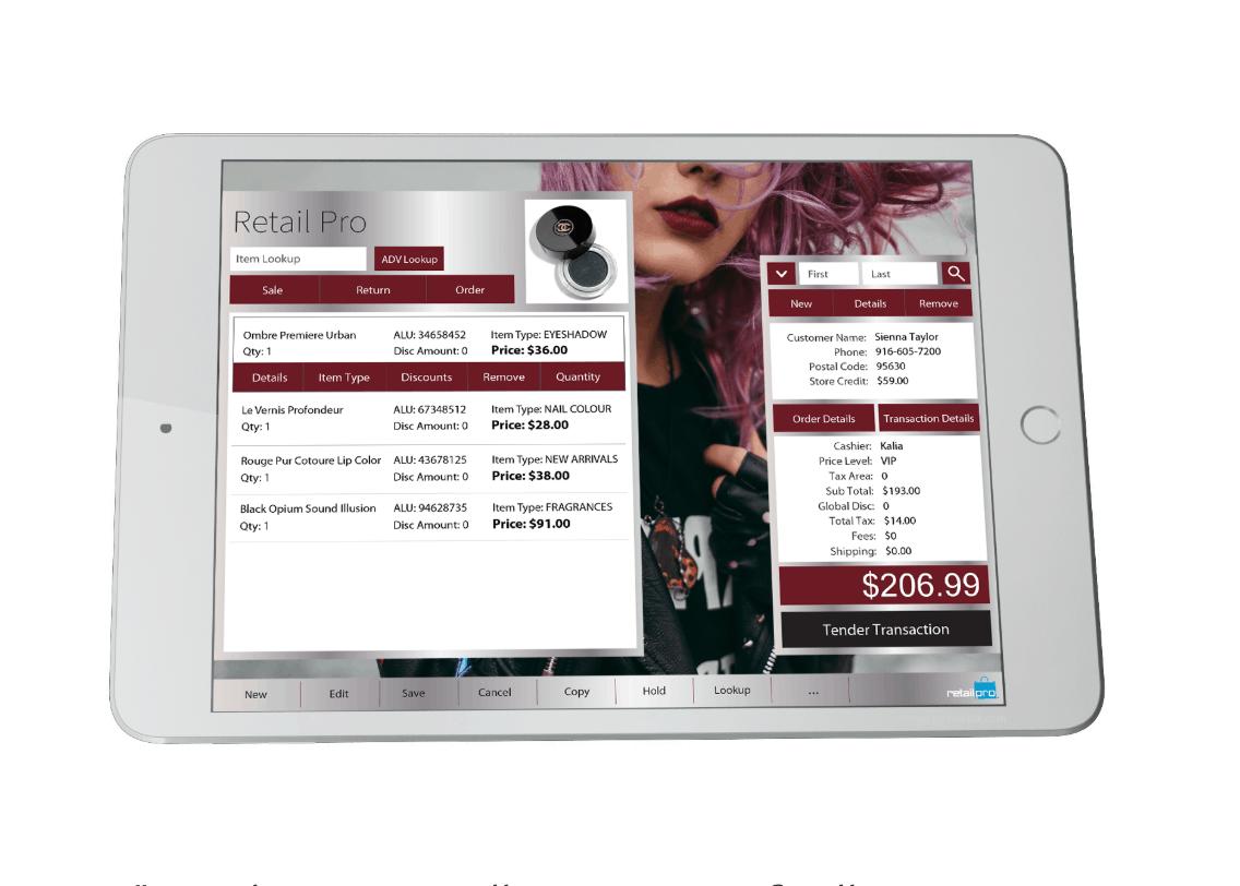 Retail Pro Prism on iPad