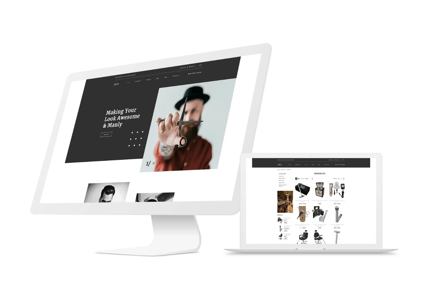 shopify barber shop website template