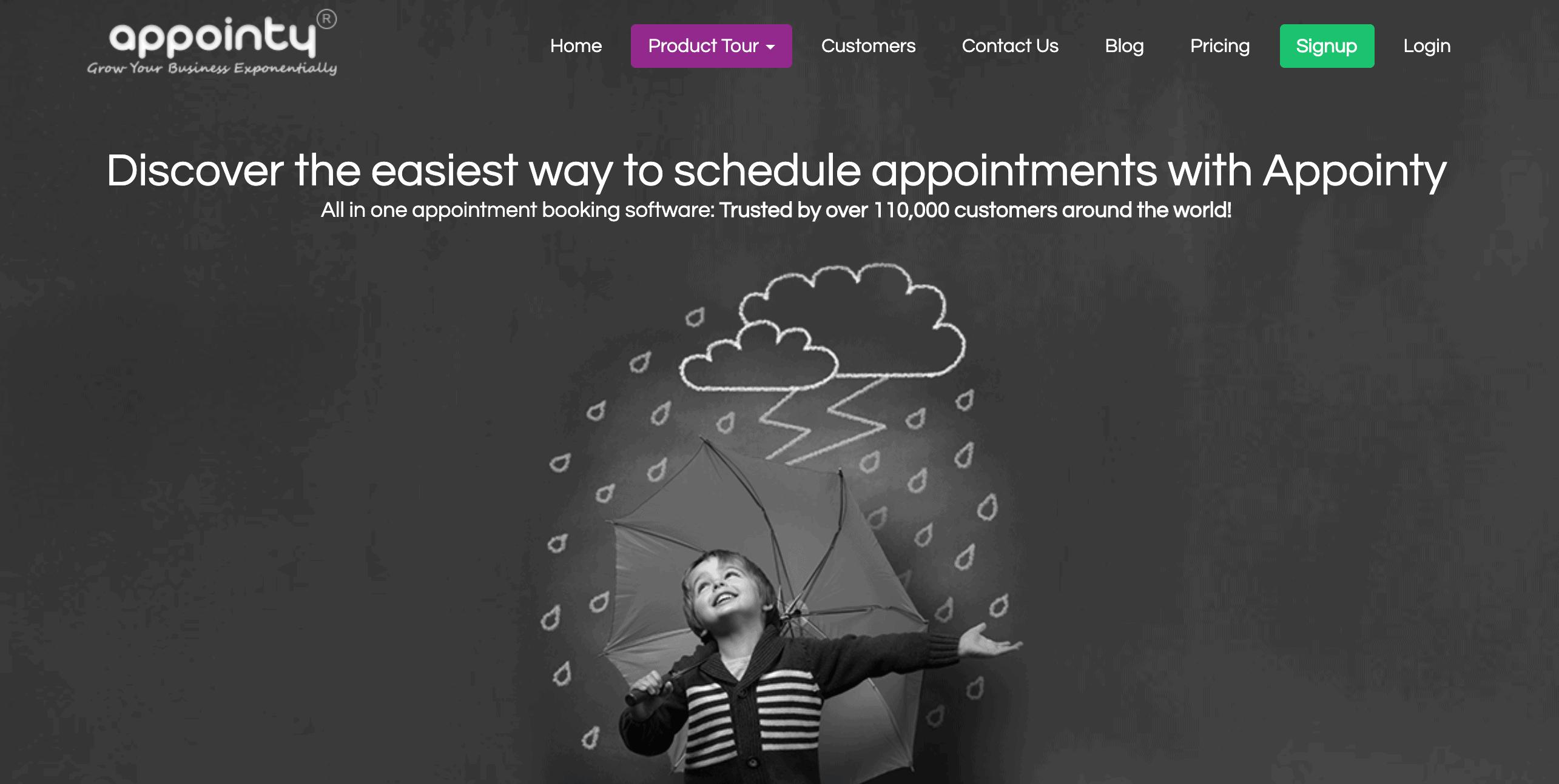 appointy website screenshot