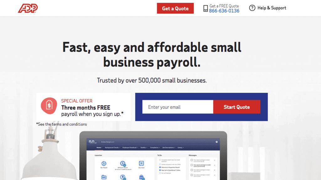 adp payroll sale