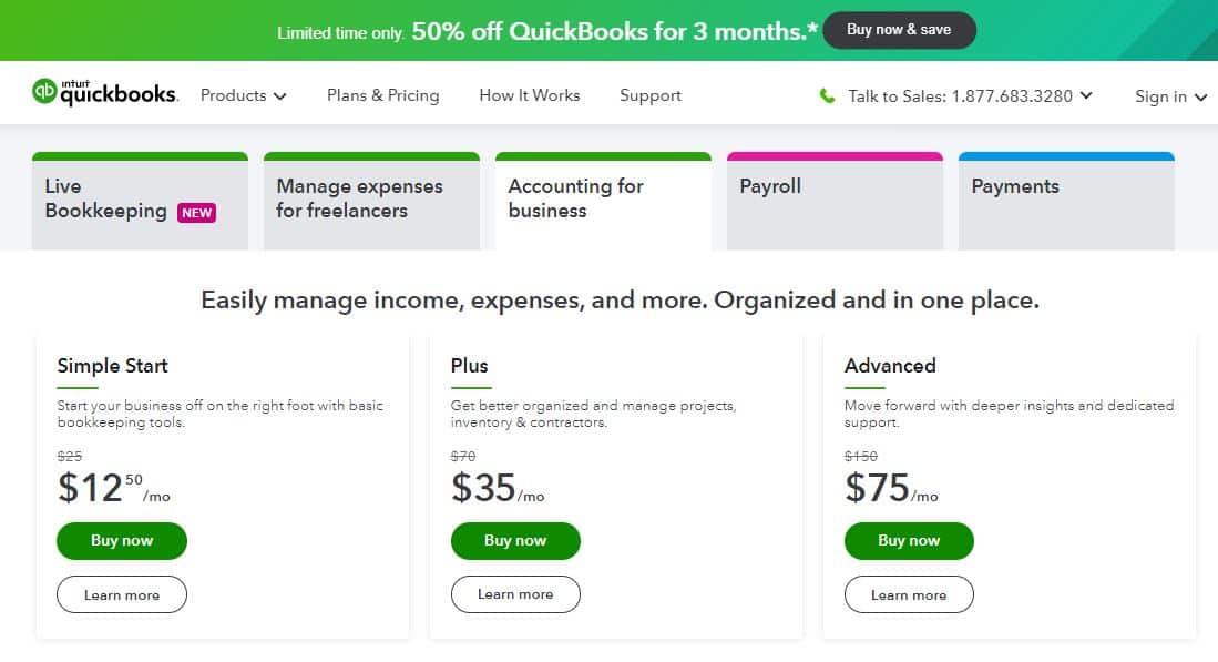 quickbooks online holiday sale