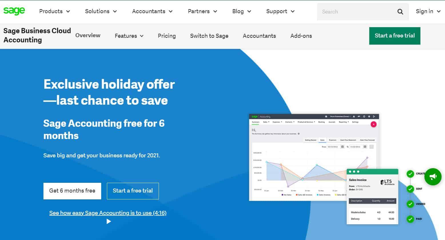 sage accounting holiday sale 2020