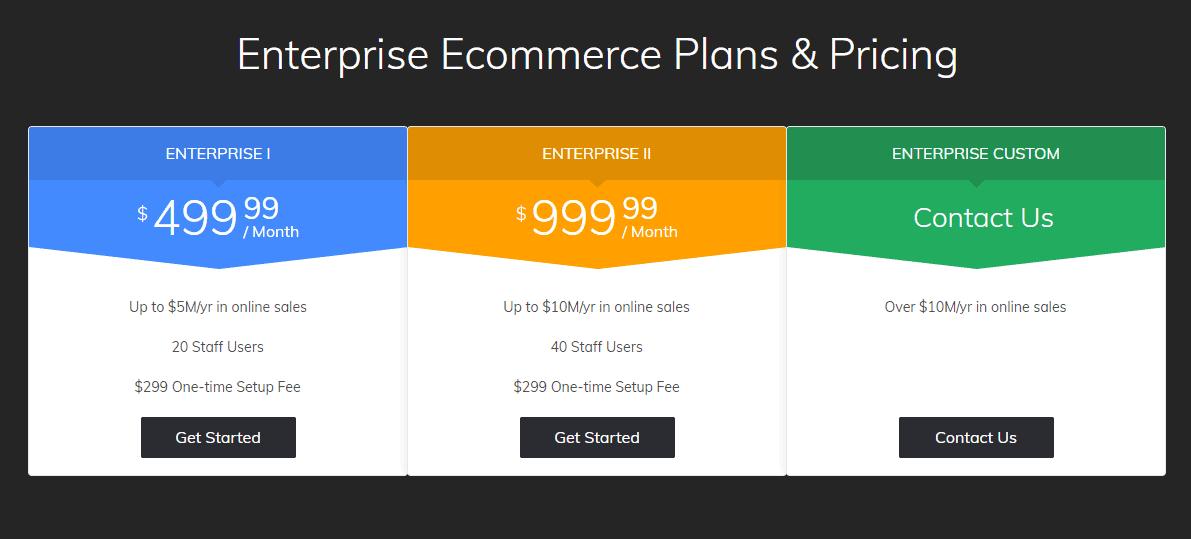 3dcart enterprise plans