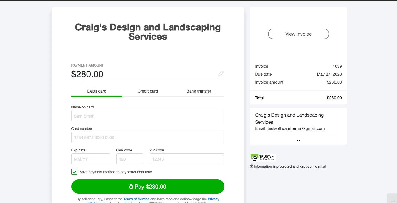 Online Invoice Payment Portal