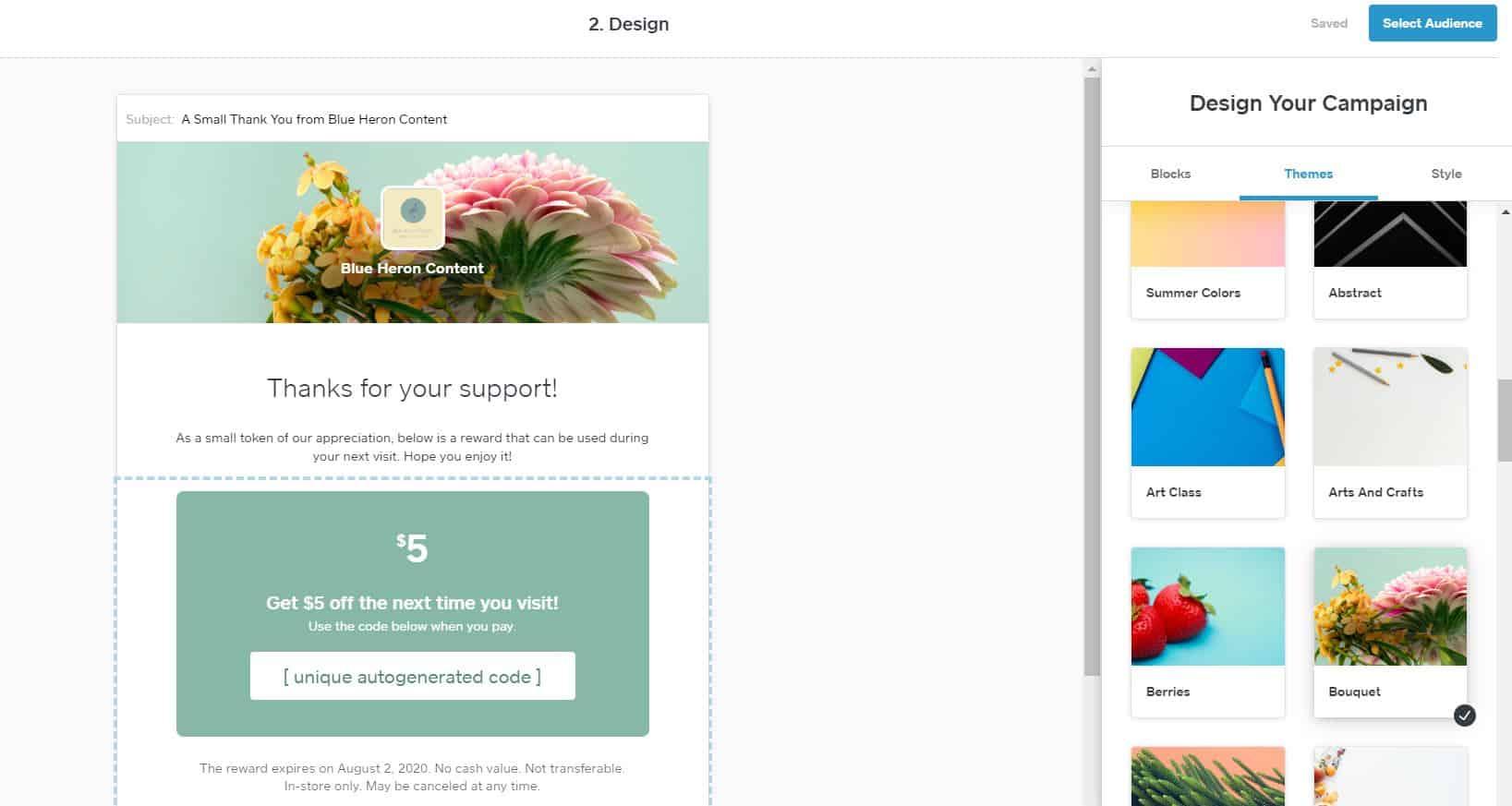 Designing Square email
