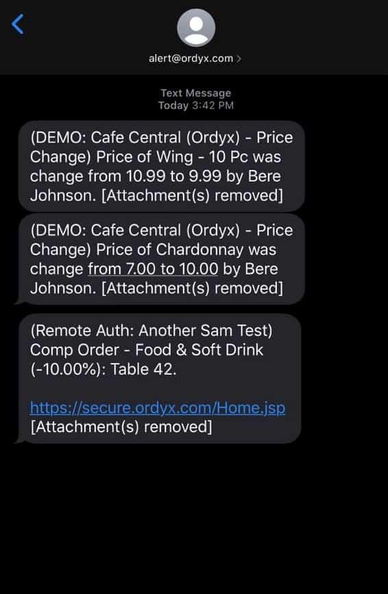 ordyx text alerts
