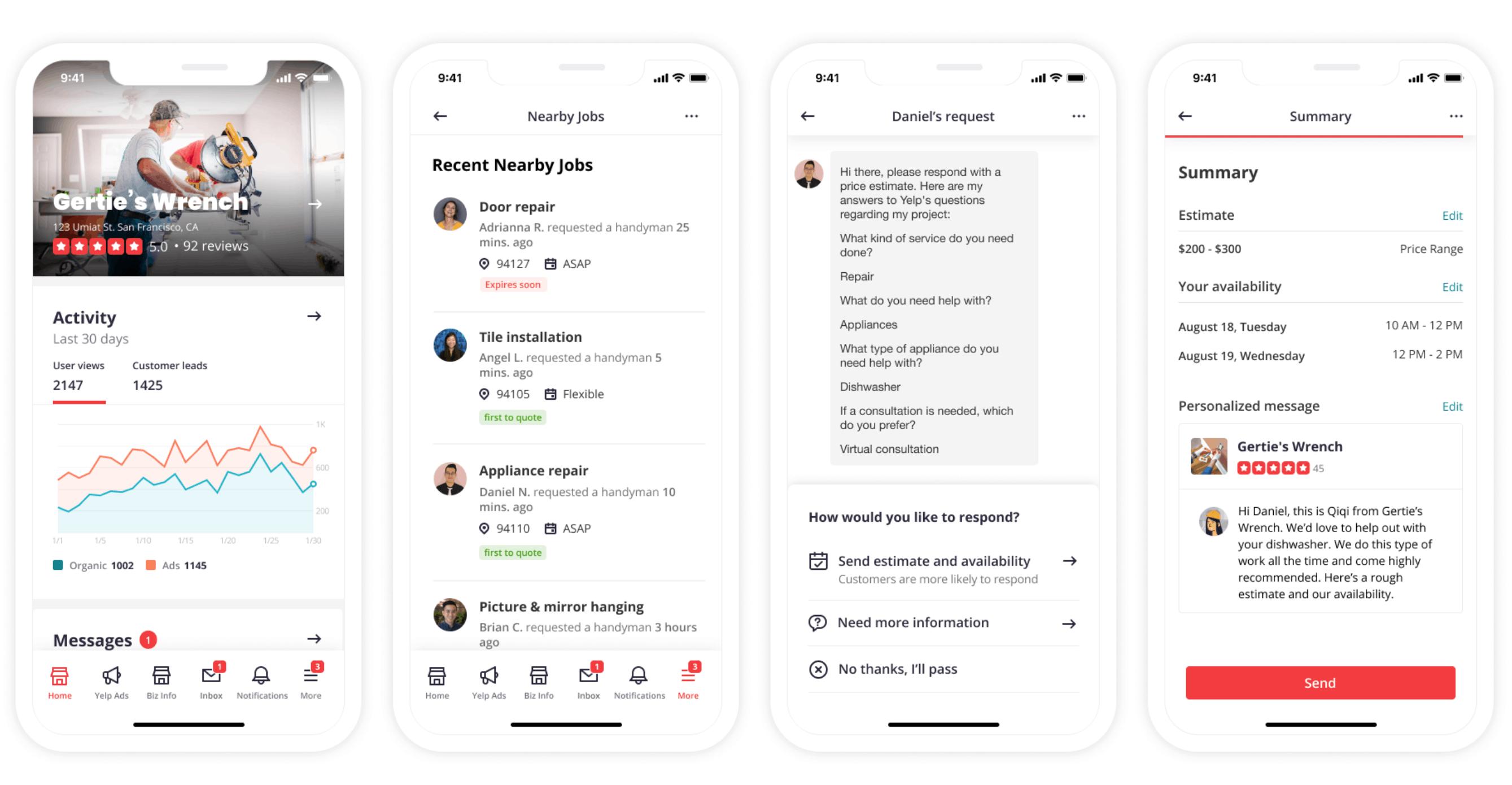 Yelp hiring experiences
