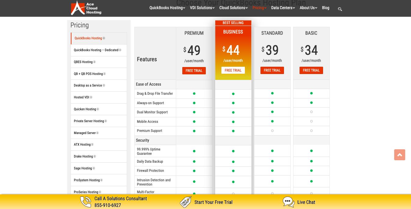 ace cloud hosting quickbooks hosting