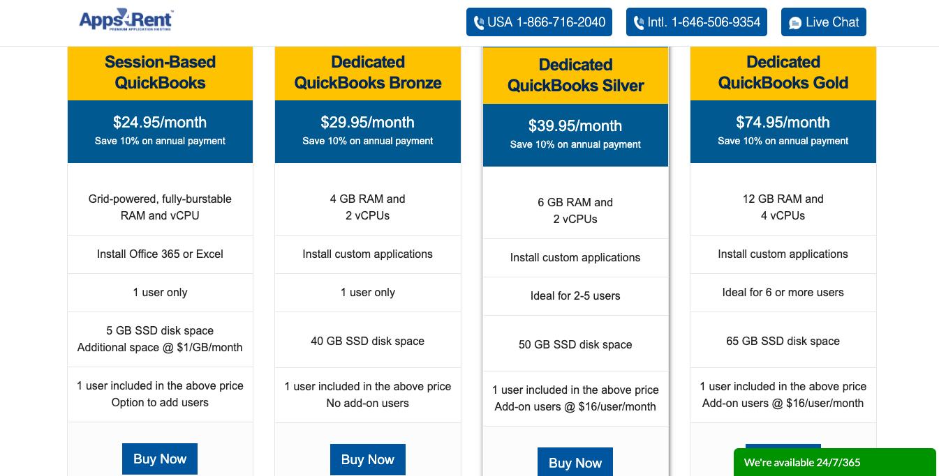 apps4rent quickbooks hosting