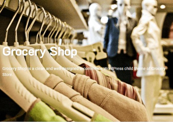 Screengrab of Grocery Shop WordPress theme