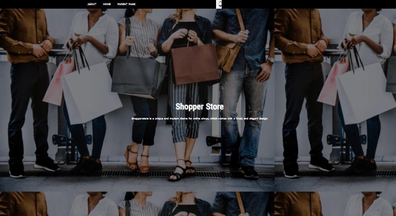 Screengrab of Shopper Store WordPress theme